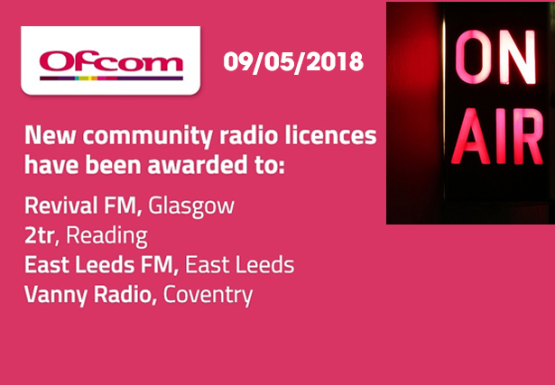 Ofcom awards eight new community radio licences
